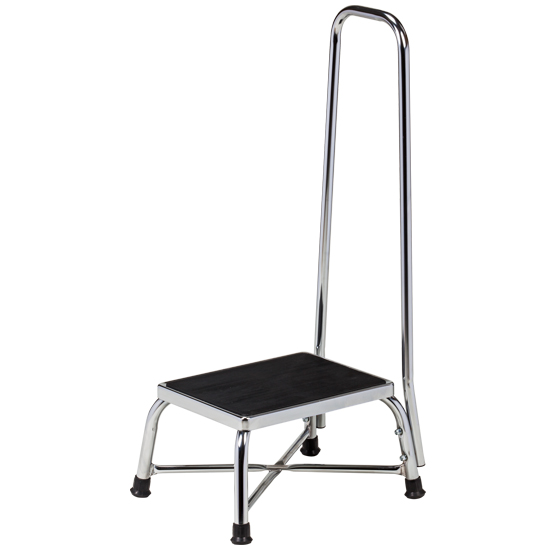 Chrome Bariatric Step Stool with Handrail  sc 1 st  Clinton Industries & Chrome Bariatric Step Stool with Handrail | Bariatric | Products ... islam-shia.org