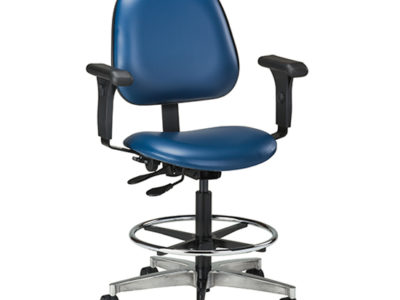 Lab Stool With Contour Seat And Backrest Clinton Industries