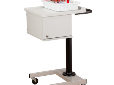 Small H Base Pneumatic Two Bin Phlebotomy Cart