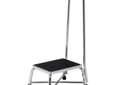 Chrome Bariatric Step Stool With Handrail Clinton Industries