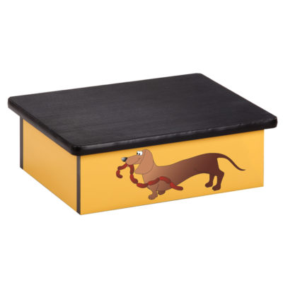 Sausage Dog Laminate Step Stool