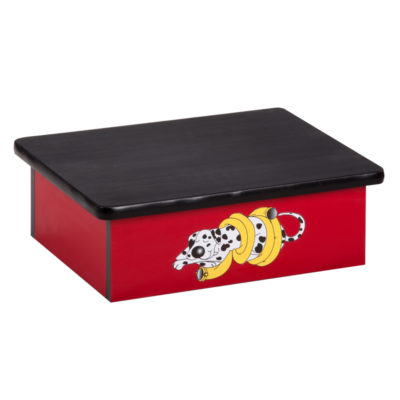 Dalmatian Red Laminate Step Stool