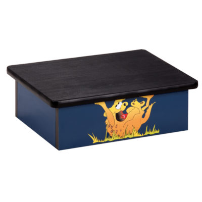 Laughing Hyena, Blue, Laminate Step Stool