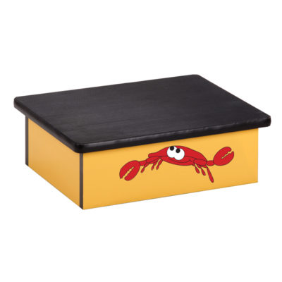 Ocean Crab, Yellow, Laminate Step Stool