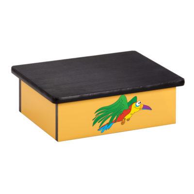 Rainforest, Parrot, Yellow, Laminate Foot Stool