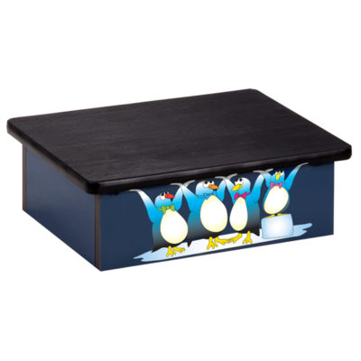 Cool Pals, Penguins, Blue, Laminate Step Stool
