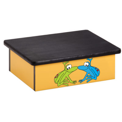 Rainforest, Tree Frogs, Yellow, Laminate Step Stool