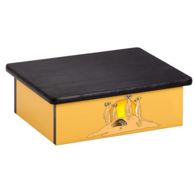 Serengeti Meerkats Yellow Laminate Step Stool