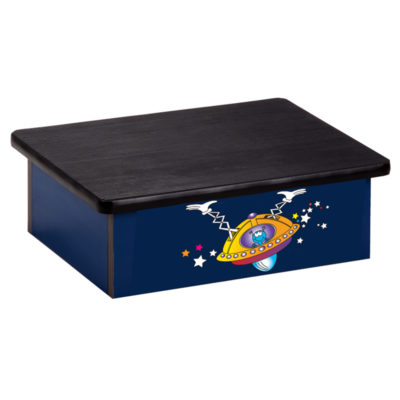 Space Place Alien, Blue, Laminate Step Stool