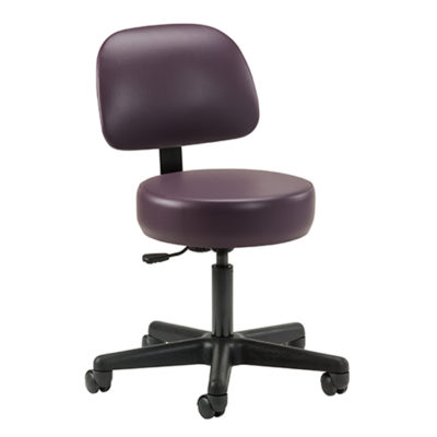 Economic, 5-leg, Pneumatic Stool with Backrest