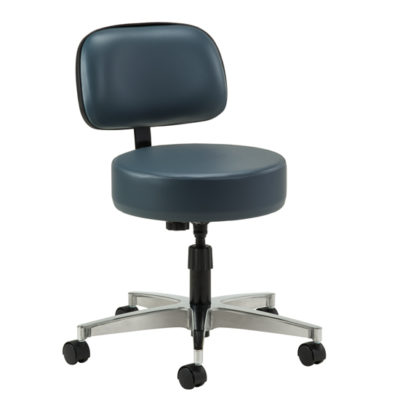 5-Leg Spin-Lift Stool with backrest