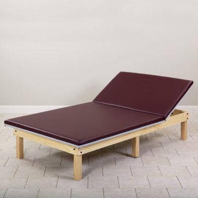 Upholstered Mat Platform with Adjustable Backrest