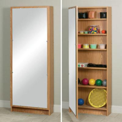 Hide-A-Way Cabinet with Mirror