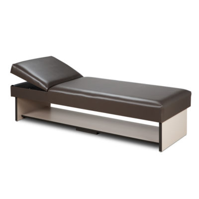 Panel Leg Couch with Full Shelf