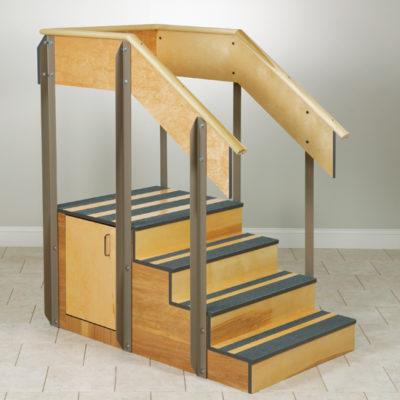 Staircase Storage Island