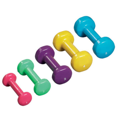 5-Piece Vinyl Coated Dumbbell Set