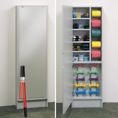 Hide-A-Way Cabinet with Mirror