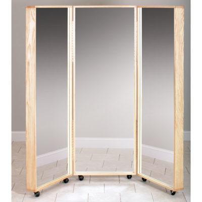 Mobile Tri-Panel Mirror