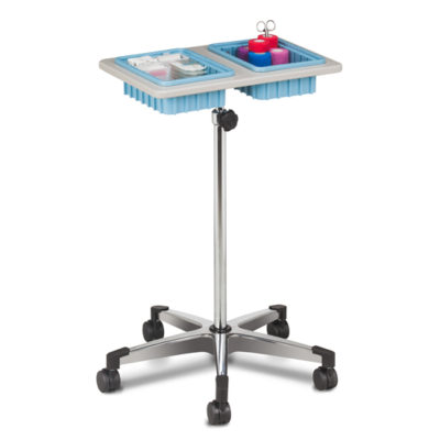 Two-Bin Mobile Phlebotomy Stand