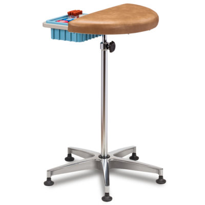Half Round, Stationary, Padded Phlebotomy Stand