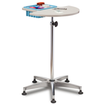 Half Round, Stationary, ClintonClean™ Phlebotomy Stand