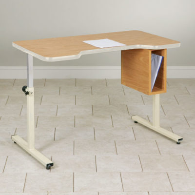 Personal Work Table with Small Cut-Out and Tilt-Top