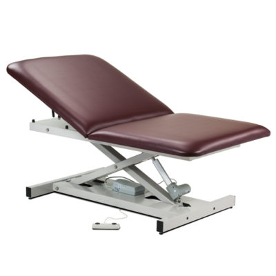 Open Base, Extra Wide, Bariatric, Power Table with Adjustable Backrest