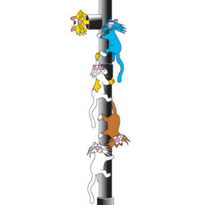 Downspout Cats Wall Sticker