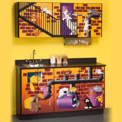 Alley Cats and Dogs Cabinets
