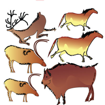 Cave Paintings Wall Stickers