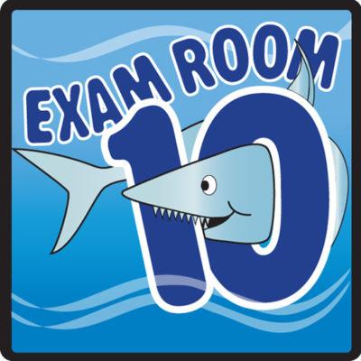 Ocean Series Exam Room 10 Sign
