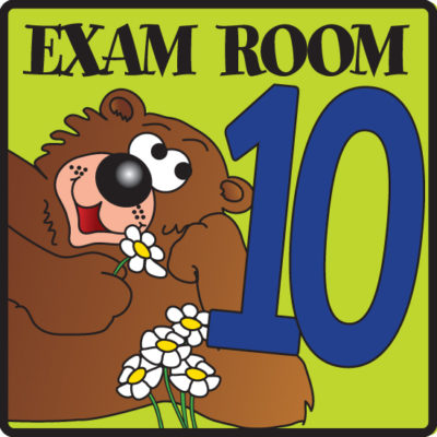 Exam Room 10 Sign