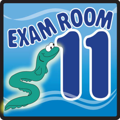 Ocean Series Exam Room 11 Sign