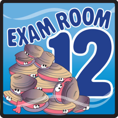 Ocean Series Exam Room 12 Sign