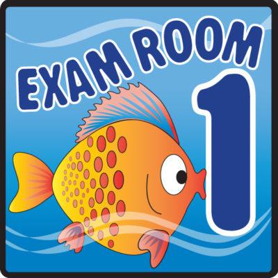 Ocean Series Exam Room 1 Sign