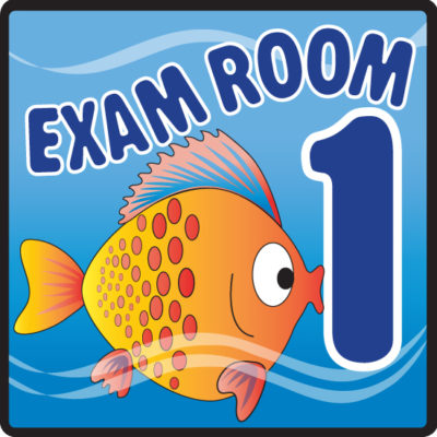Ocean Series Exam Room 1 Sign