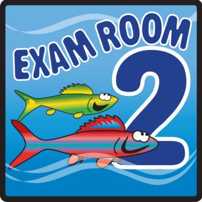Ocean Series Exam Room 2 Sign
