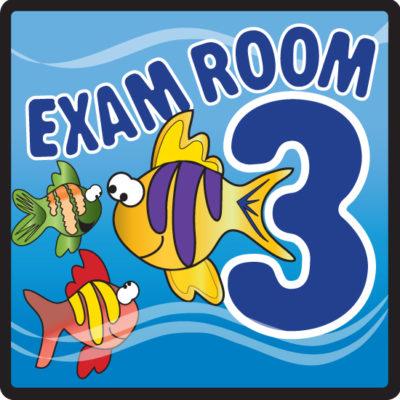 Ocean Series Exam Room 3 Sign