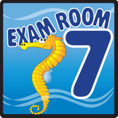 Ocean Series Exam Room 7 Sign