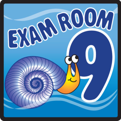 Ocean Series Exam Room 9 Sign