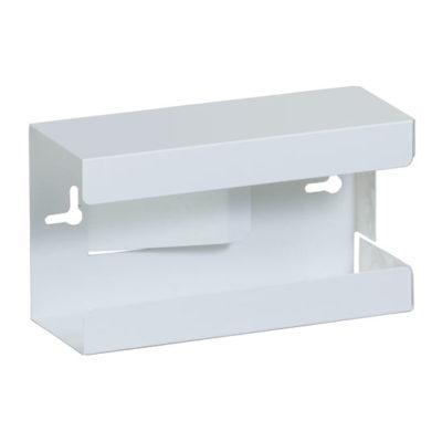 Single White Steel Glove Box Holder