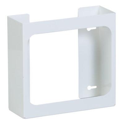 Double White Steel Glove Box Holder
