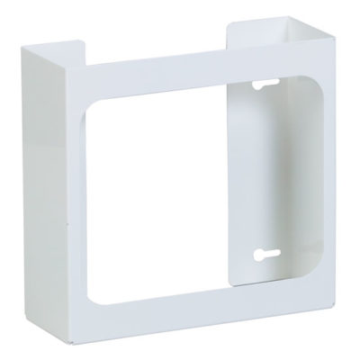 Double White Steel Glove Box Holder