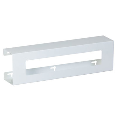 Double Slimline White Steel Glove Box Holder