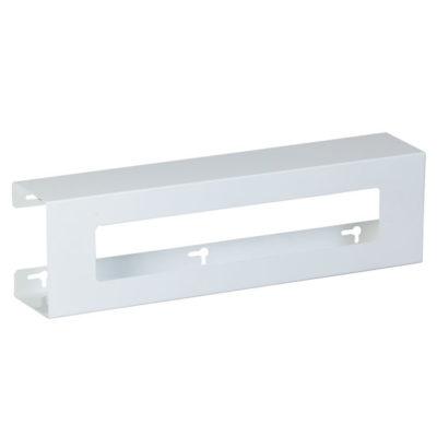 Double Slimline White Steel Glove Box Holder