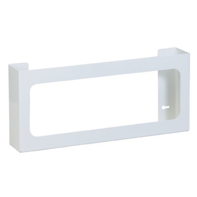 Quad White Steel Glove Box Holder