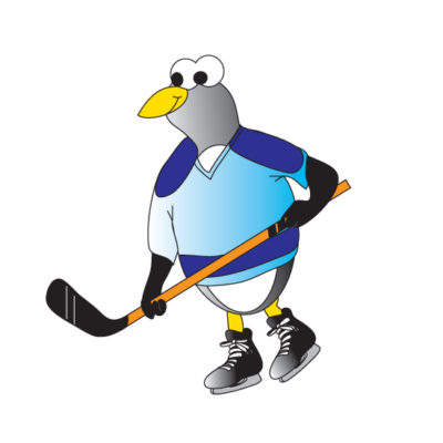 Hockey Penguin Graphic