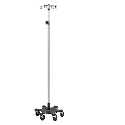 *6-Leg, Space-Saver, Heavy-Duty, Stainless 4-Hook Infusion Pump Stand