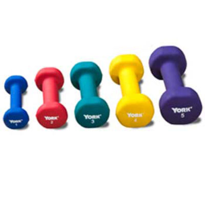 Set of 5 Neoprene Coated Dumbbells