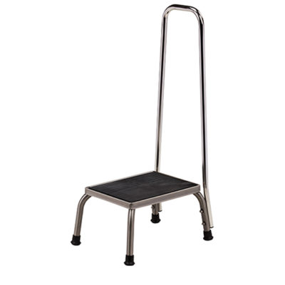 Stainless Steel* Step Stool with Hand Rail